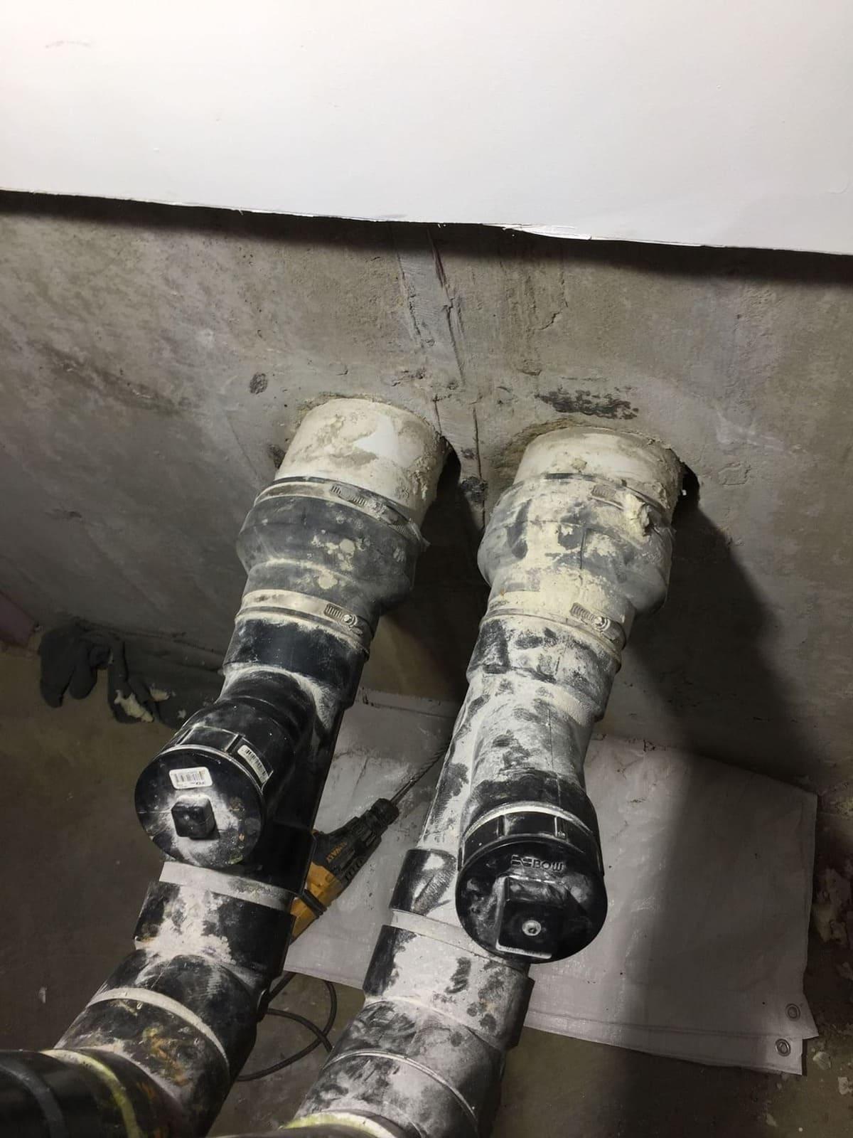 Injection tuyaux fondation