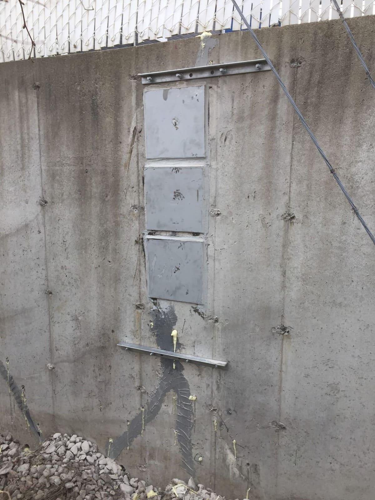 Réparation par ancrages chimiques, barres de renforts et injection d'époxy